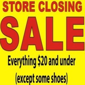 Store closing sale (see details)